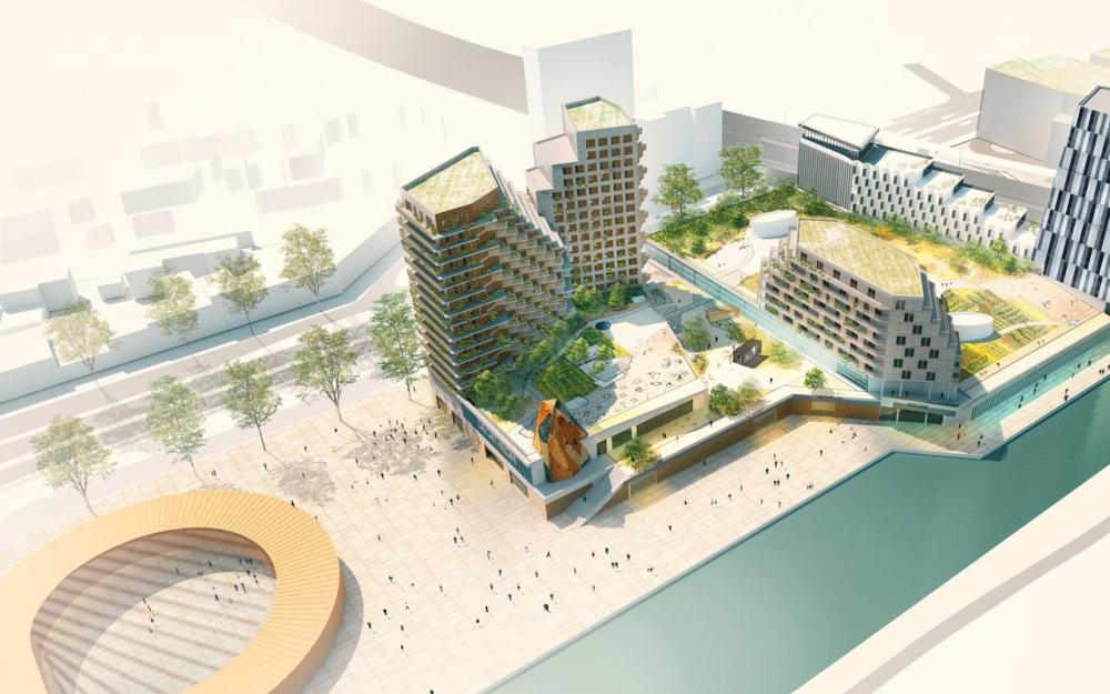 La future piscine de noisy le sec et bondy est ensemble - Dimension d une piscine olympique ...