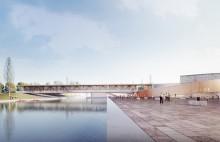 La future gare du Pont de Bondy est signée par les architectes Silvio d'Ascia et Bjarke Ingels et évoque un ruban enroulé, l'idée d'attache, de liaison.©Société du Grand Paris / BIG & Silvio d'Ascia