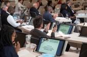 Vue de la séance d'installation du conseil de territoire d'Est Ensemble pour le mandat 2020-2026