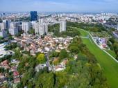 Vue aérienne du parc Jean Moulin à Bagnolet