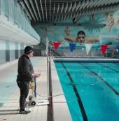 Entretien de la piscine Michel Beaufort à Bondy. Photo Est Ensemble / Direction des sports