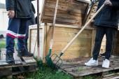 Retournement de compost à Bobigny - crédits : Est Ensemble / Camille Millerand