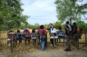 Balade à travers le parc des Beaumonts avec Collectif Paradise - crédit : Est Ensemble / Christel Jeanne