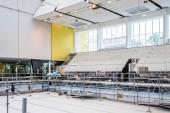 Travaux de rénovation du stade nautique Maurice Thorez en 2018. Photo Est Ensemble / Corinne Rozotte