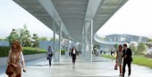 Perspective du futur viaduc - Image non contractuelle © Marc Mimram.