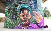 Graffiti du collectif Hip Hop Dome