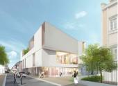 Perspective du nouveau conservatoire de Musique et de Danse du Pré Saint-Gervais - Perspective : Ivars et Ballet