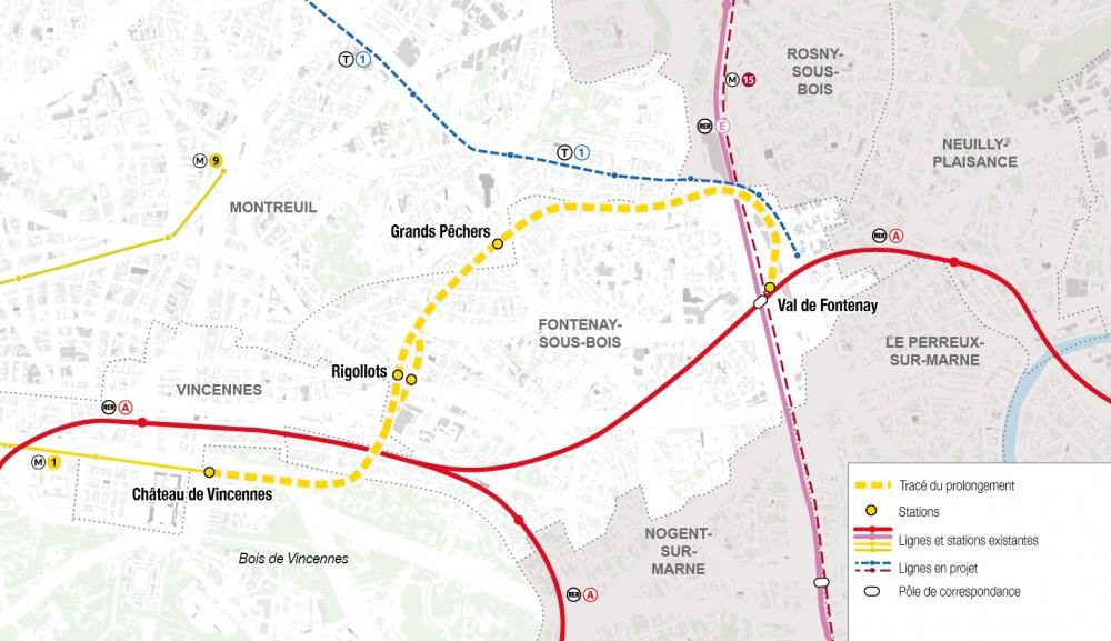 Le prolongement de la ligne 1 du métro passera par Est Ensemble ...